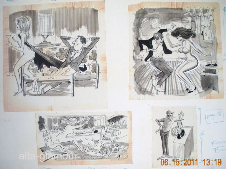 BACHELOR IS A DIRTY WORD - ORIGINAL ARTWORK; French Frills