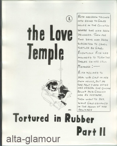 THE LOVE TEMPLE - PHOTOGRAPHIC BONDAGE ART SET; Tortured in Rubber - Part II