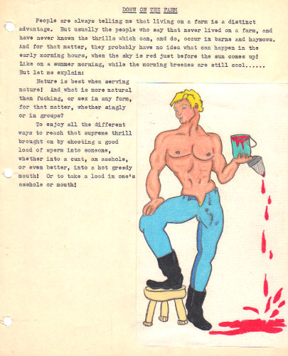 A COLLECTION OF ILLUSTRATED GAY TYPESCRIPTS AND ARTWORK