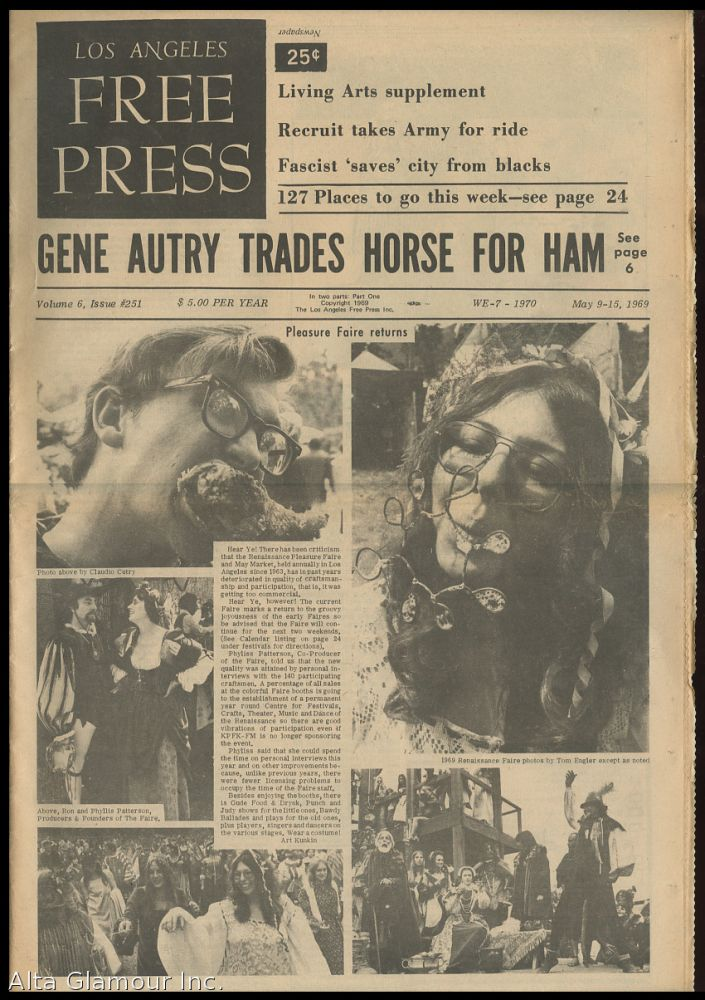 LOS ANGELES FREE PRESS; Gene Autry Trafes Horse For Ham [Headline]. Arthur Kunkin.