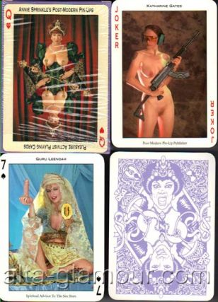 "ANNIE SPRINKLE'S POST-MODERN PIN-UPS; Pleasure Activist Playing Cards. Annie ""Sprinkle, Katharine Gates"""