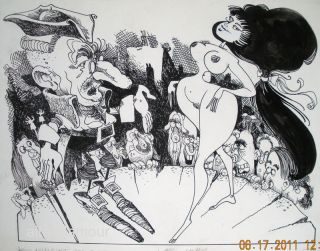 OPEN MARKET: WOMEN FOR SALE! - ORIGINAL ARTWORK; Nymphet. Paul Brock.
