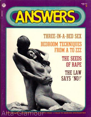 ANSWERS; The Photo-Magazine of Sexual Education for Adults