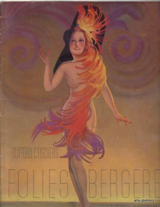 FOLIES BERGERE - Souvenir Program; Folies Bergere of 1941. Clifford C. Fischer, presenter