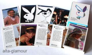 THE PLAYBOY COMMEMORATIVE CARDART SET. Playing Cards.