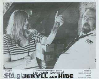 "THE ADULT VERSION OF JEKYLL AND HIDE - 3 FILM STILLS; ""A Tale of Hex and Sex Rated """"X"""""""