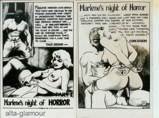 MARLENE'S NIGHT OF HORROR - PHOTOGRAPHIC BONDAGE ART SET
