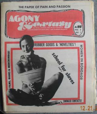 AGONY & EXTASY; For Freaks, Fetishists, and Far-Out Fantasists