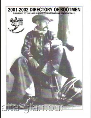 2001-2002 DIRECTORY OF BOOTMEN; Supplement to Tom's Men in Boots Club International Magazine No....
