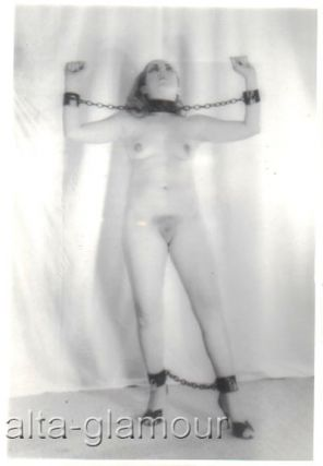 BLONDE IN MANACLES AND CHAINS] - BONDAGE PHOTO SET