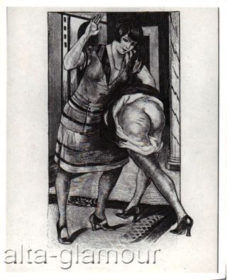 PHOTOGRAPH - [WELL DRESSED DECO STANDING OTK SPANKING]