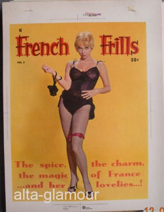 COLOR SEPARATION PROOF - FRENCH FRILLS Vol. 1, No. 2 [Joy Harmon]. Milton Luros, Publisher.