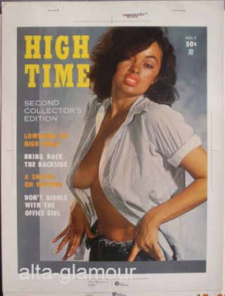 COLOR SEPARATION PROOF - HIGH TIME Vol. 1, No. 2 [Bonnie Logan]. Milton Luros, Publisher.