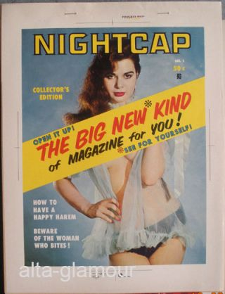 COLOR SEPARATION PROOF - NIGHTCAP Vol. 1, No. 1. Milton Luros, Publisher.