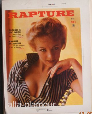 COLOR SEPARATION PROOF - RAPTURE Vol. 1, No. 5. Milton Luros, Publisher.