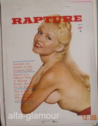 COLOR SEPARATION PROOF - RAPTURE Vol. 1, No. 6. Milton Luros, Publisher.