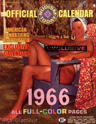 1966 NUDISM TODAY CALENDAR
