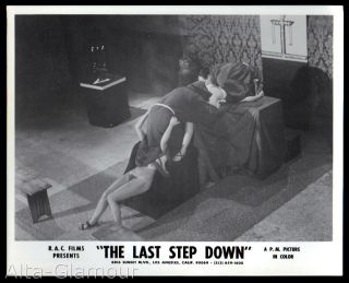 """ORIGINAL PHOTOGRAPH -- THE LAST STEP DOWN 10 -- OCCULT GROUP SEX ON ALTAR; MONKS IN ROBES, TWO NAKED WOMEN"""