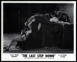 """ORIGINAL PHOTOGRAPH -- THE LAST STEP DOWN 11 -- OCCULT GROUP SEX ON ALTAR; MONKS IN ROBES, TWO NAKED WOMEN (PROFILE VIEW)"""