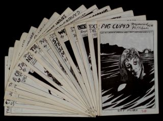 A SET OF FIFTEEN RAYMOND PETTIBON SST PUBLICATIONS: PIG CUPID. EXTERMINATING THE EAGLES. LIKE DEATH VALLEY. SHORT TEATS, BLOODY MILK. TRIPPING CORPSE 6. JUST HAPPY TO BE WORKING. CARS, TV, ROCKETS, H-BOMB -- YOU NAME IT. WEIN, WEIB, UND GESANG. NEW WAVY GRAVY. NEW WAVY GRAVY 2. THE NAVIGATOR'S WIVES. JANE'S BOOK OF FIGHTING. A CAN AT THE CROSSROADS. THE OBSERVABLE WORLD. THE EXPRESS SEX TRAIN.