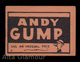 ANDY GUMP; Has An Unusual Piece