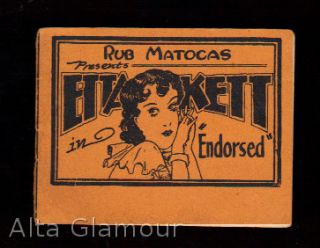"ETTA KETT IN ""ENDORSED""; RUB MATOCAS PRESENTS"