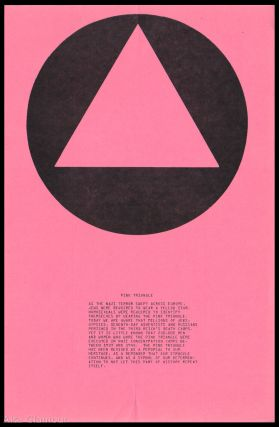PINK TRIANGLE [Broadside]