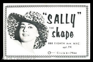 "BURLESQUE CALLING CARD - ""Sally The Shape"""
