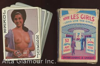 VIVE LES GIRLS PLAYING CARDS - 52 ART STUDIES; Long Live the Girls. Playing Cards.