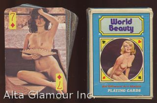 WORLD BEAUTY PLAYING CARDS - 54 ART MODELS. Playing Cards.