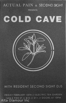 ACTUAL PAIN & SECOND SIGHT PRESENTS: COLD CAVE - With Second Sight DJs