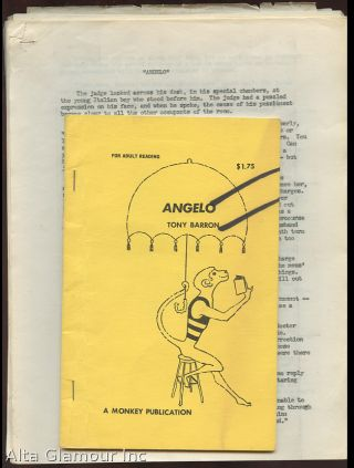 ANGELO [three typescripts; alternate versions, with Monkey Publications book]. Gay erotic mimeo / typescripts.