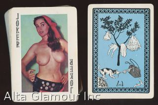 VINTAGE NUDE MODELS PLAYING CARDS. Playing cards