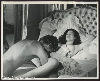 B/W PROMOTIONAL FILM STILL - Annette Haven and Friend