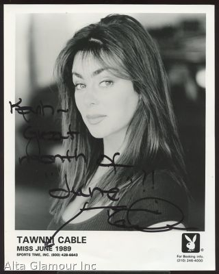 B/W PLAYBOY PROMO PHOTO - Tawnni Cable [Miss June 1989]