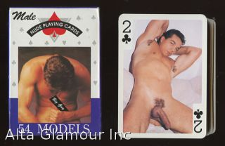 MALE NUDE PLAYING CARDS; 54 Models. Playing Cards