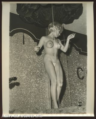 PHOTO - Bonnie Parker Topless Dancer Doing Her Bonnie & Clyde Act At The Condor Club